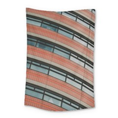 Architecture Building Glass Pattern Small Tapestry