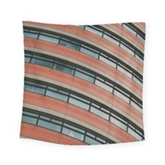 Architecture Building Glass Pattern Square Tapestry (small)