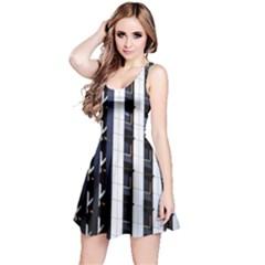 Architecture Building Pattern Reversible Sleeveless Dress