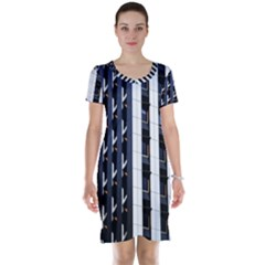 Architecture Building Pattern Short Sleeve Nightdress