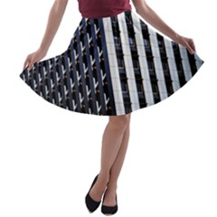 Architecture Building Pattern A Line Skater Skirt