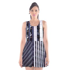 Architecture Building Pattern Scoop Neck Skater Dress