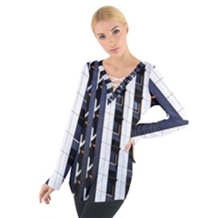 Architecture Building Pattern Women s Tie Up Tee