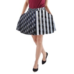 Architecture Building Pattern A-Line Pocket Skirt