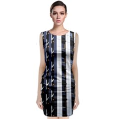 Architecture Building Pattern Classic Sleeveless Midi Dress
