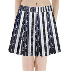 Architecture Building Pattern Pleated Mini Skirt