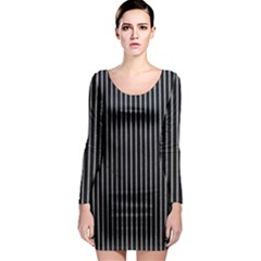 Background Lines Design Texture Long Sleeve Bodycon Dress
