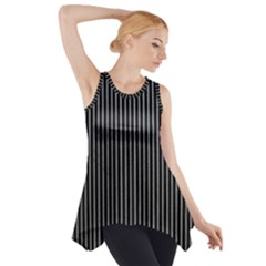 Background Lines Design Texture Side Drop Tank Tunic