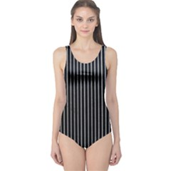 Background Lines Design Texture One Piece Swimsuit
