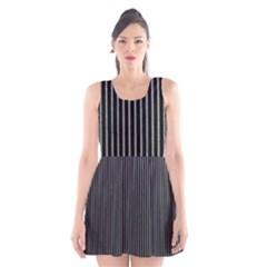 Background Lines Design Texture Scoop Neck Skater Dress
