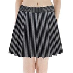 Background Lines Design Texture Pleated Mini Skirt