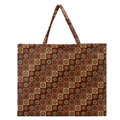 Background Structure Zipper Large Tote Bag