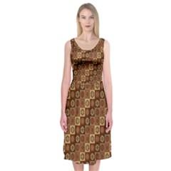 Background Structure Midi Sleeveless Dress