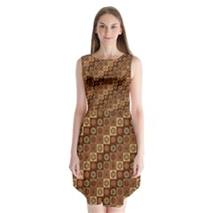 Background Structure Sleeveless Chiffon Dress