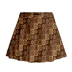 Background Structure Mini Flare Skirt