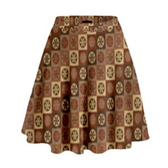 Background Structure High Waist Skirt
