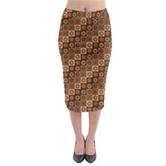 Background Structure Midi Pencil Skirt