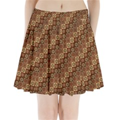 Background Structure Pleated Mini Skirt