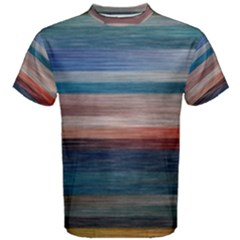 Background Horizontal Lines Men s Cotton Tee