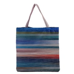 Background Horizontal Lines Grocery Tote Bag