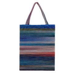 Background Horizontal Lines Classic Tote Bag