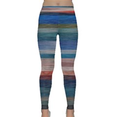 Background Horizontal Lines Classic Yoga Leggings