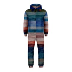 Background Horizontal Lines Hooded Jumpsuit (kids)