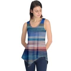 Background Horizontal Lines Sleeveless Tunic