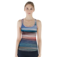 Background Horizontal Lines Racer Back Sports Top