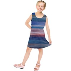 Background Horizontal Lines Kids  Tunic Dress