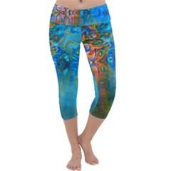 Background Texture Structure Capri Yoga Leggings