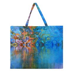 Background Texture Structure Zipper Large Tote Bag
