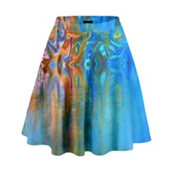 Background Texture Structure High Waist Skirt