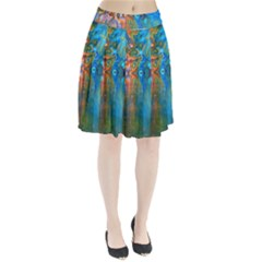 Background Texture Structure Pleated Skirt