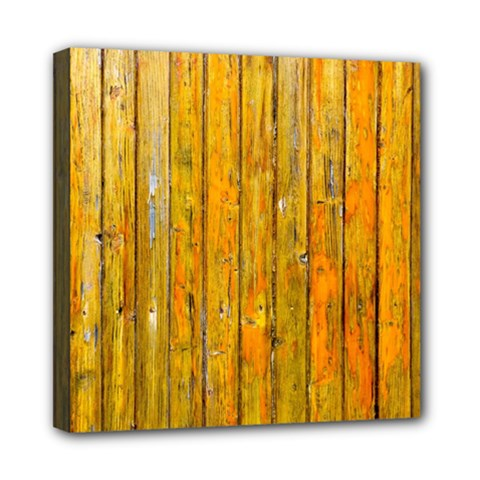Background Wood Lath Board Fence Mini Canvas 8  X 8