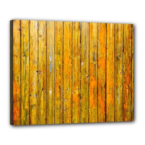 Background Wood Lath Board Fence Canvas 20  x 16