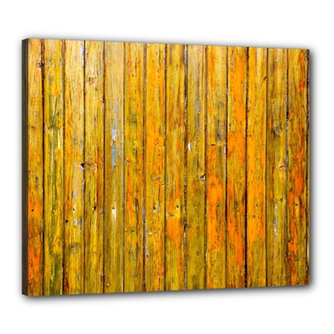 Background Wood Lath Board Fence Canvas 24  X 20