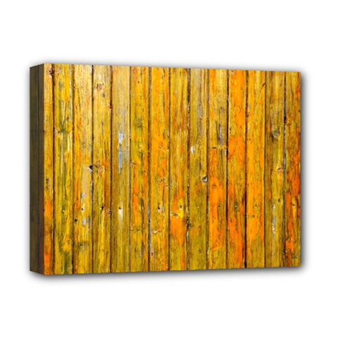Background Wood Lath Board Fence Deluxe Canvas 16  X 12