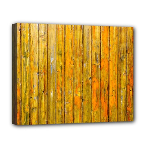 Background Wood Lath Board Fence Deluxe Canvas 20  X 16