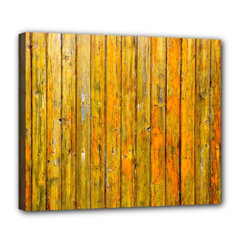 Background Wood Lath Board Fence Deluxe Canvas 24  X 20