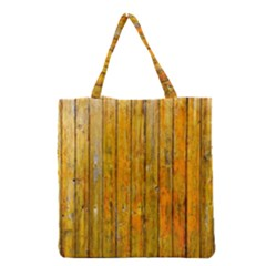 Background Wood Lath Board Fence Grocery Tote Bag