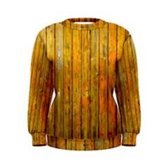Background Wood Lath Board Fence Women s Sweatshirt