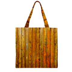 Background Wood Lath Board Fence Zipper Grocery Tote Bag