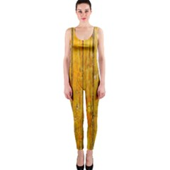Background Wood Lath Board Fence Onepiece Catsuit