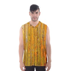 Background Wood Lath Board Fence Men s Basketball Tank Top