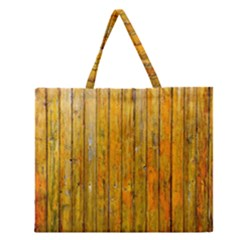Background Wood Lath Board Fence Zipper Large Tote Bag
