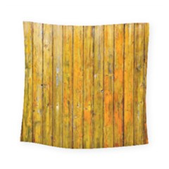 Background Wood Lath Board Fence Square Tapestry (small)