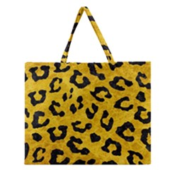 SKN5 BK-YL MARBLE Zipper Large Tote Bag
