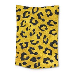 Skin5 Black Marble & Yellow Marble Small Tapestry