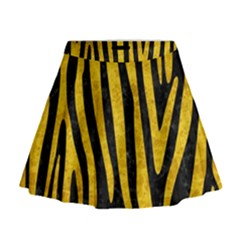 SKN4 BK-YL MARBLE (R) Mini Flare Skirt